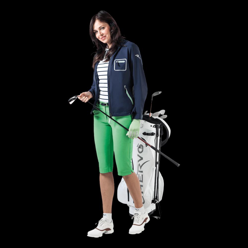 freigestellte modelfotografie golfmode damen outfit für onlineshop