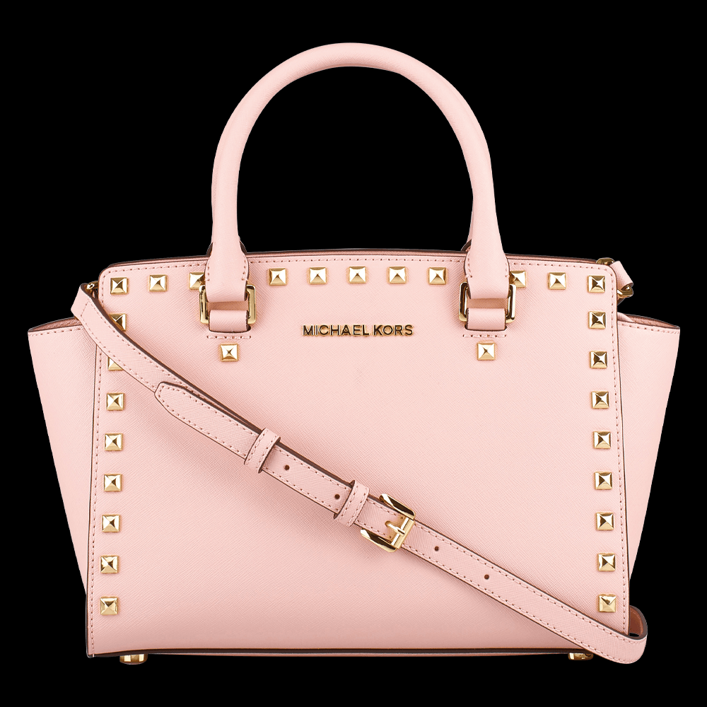 freigestellte produktfotografie rosé handtasche michael kors für onlineshop