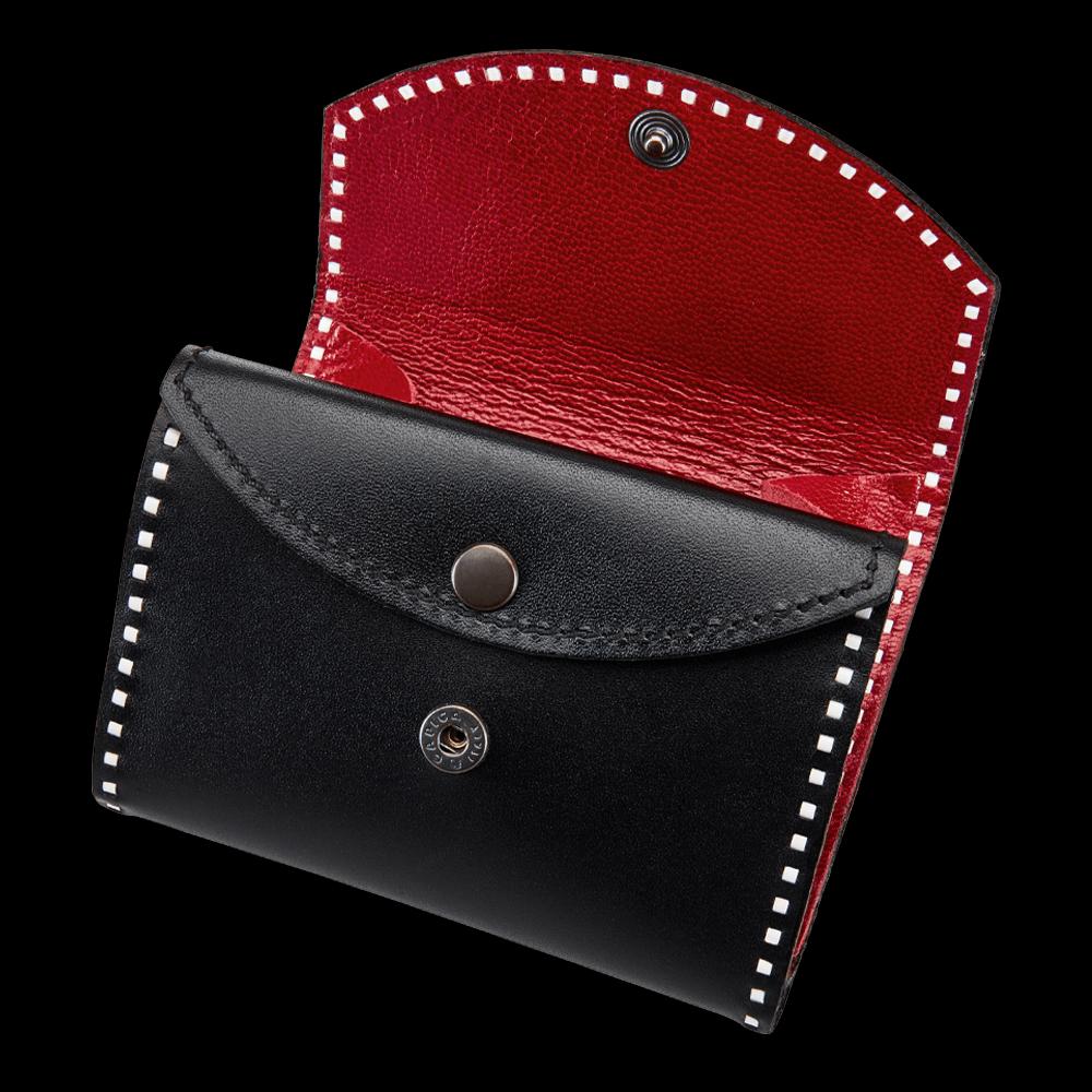 freigestellte produktfotografie accessoires rote geldtasche für onlineshop