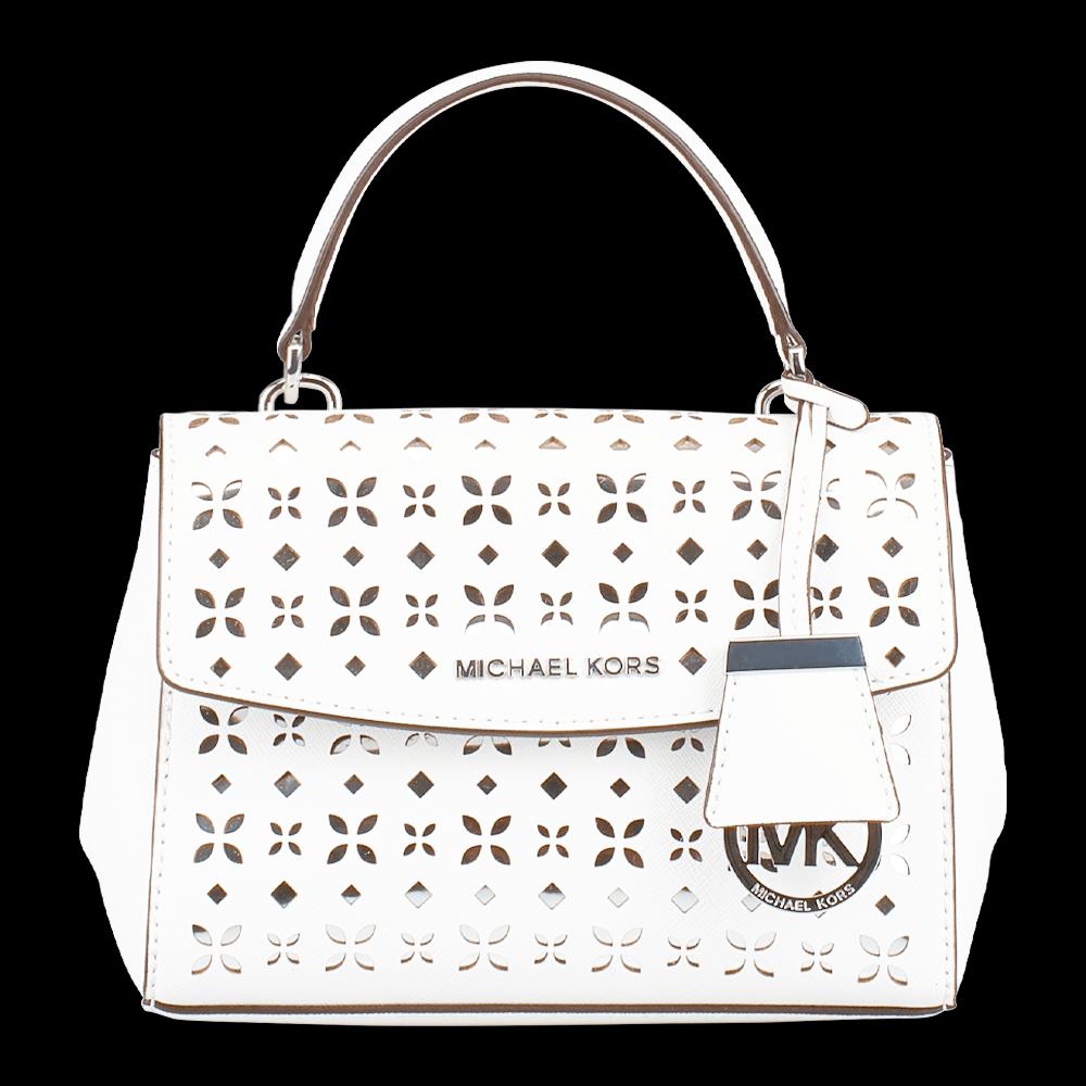 freigestellte produktfotografie weiße handtasche michael kors für onlineshop