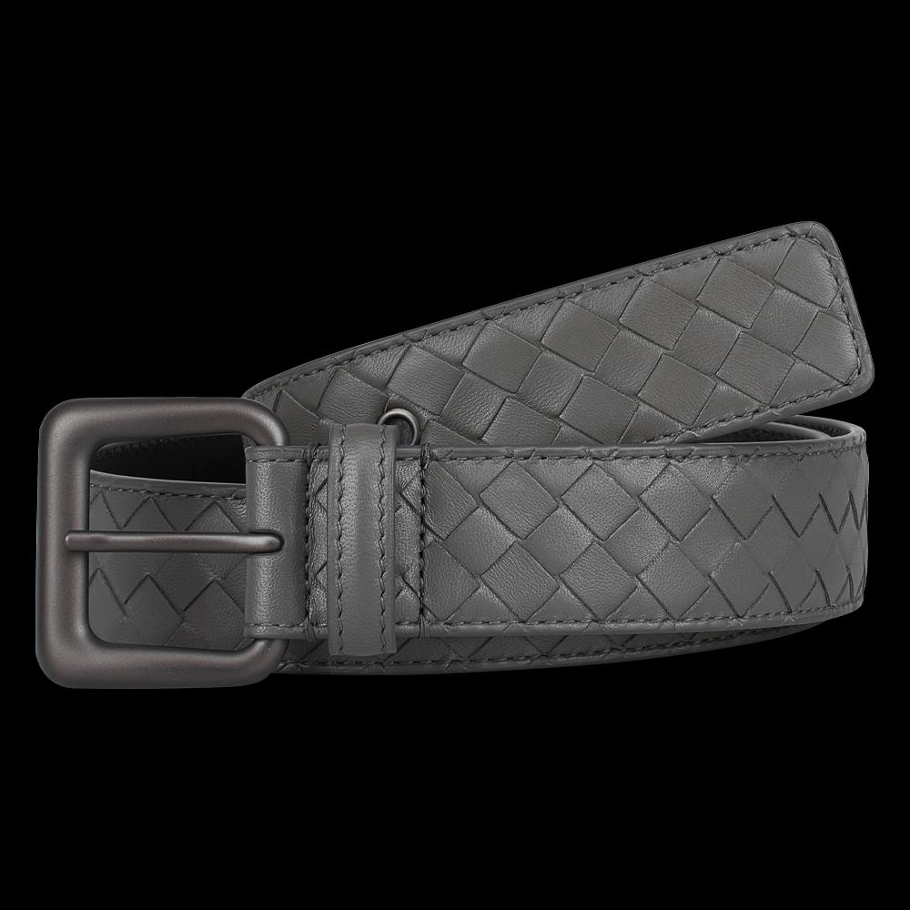 freigestellte produktfotografie grauer gürtel bottega veneta für onlineshop